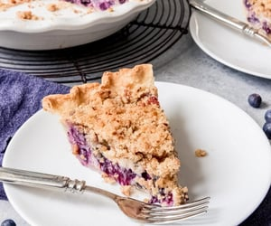 blueberry, desserts, and food image
