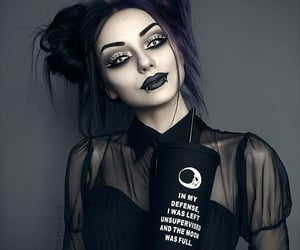beautiful, portrait, and goth image