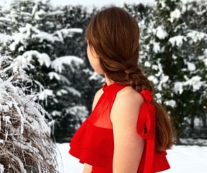 photographic, red, and snow image