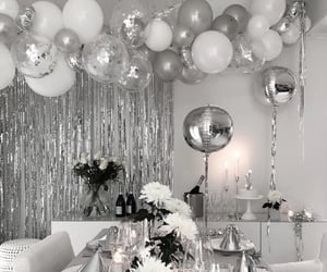 balloons, birthday, and candles image