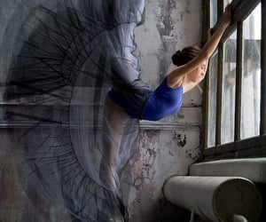 blue, dancer, and ballerina image