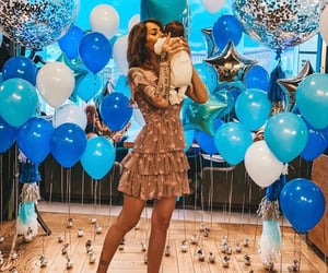 baby, balloons, and happiness image