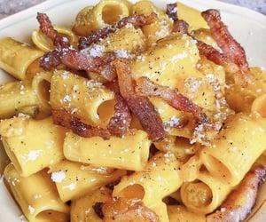pasta, carbonara, and aesthetic image