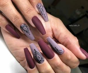colors, Hot, and fake nails image