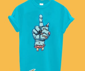 middle finger t-shirt image