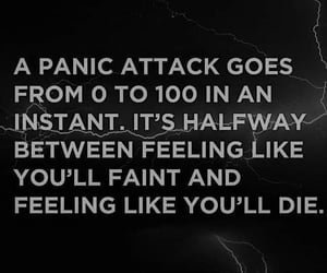 anxiety, panic attack, and quotes image