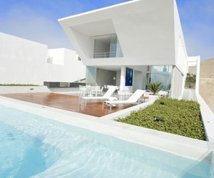 pool, house, and white image
