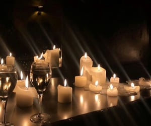 candles, dinner, and romantic image