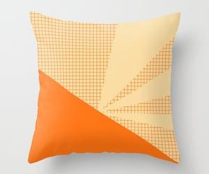 cushion, orange, and geometric image