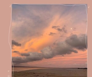 background, beach, and clouds image
