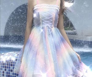 clothes, dress, and rainbow image