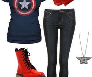 captain america, Marvel, and outfit image