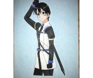 anime, art, and kirito kirigaya image