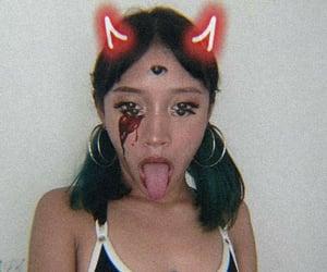 girl, goth girl, and égirl image