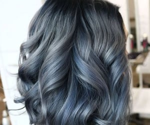 colored hair, gray hair, and hair image