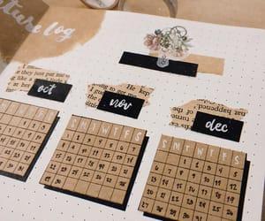 calendar, crafty, and creativity image