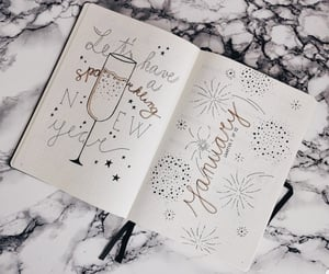 january and bullet journal image