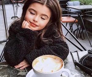 baby, coffee, and girl image