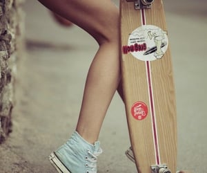 converse, skateboard, and skateboarding image