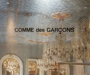aesthetic, comme des garcons, and theme image
