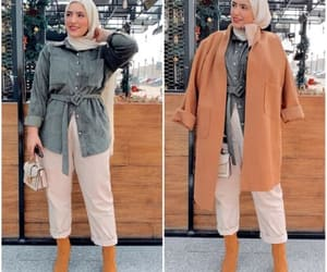 long jacket, tan jacket, and trench jacket image