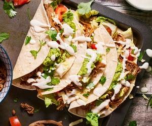 taco, vegan, and vegetarian image