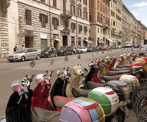 architecture, rome, and mopeds image