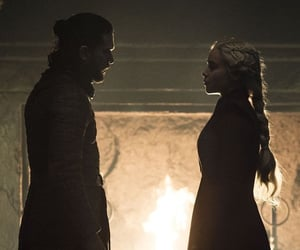 jon snow, daenerys targaryen, and kit harington image