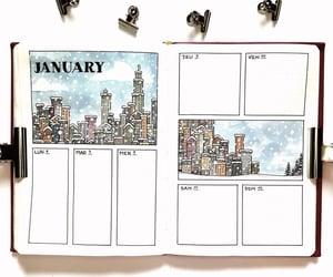 fashion, notebook, and winter season image