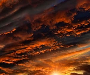 sunset, clouds, and sky image