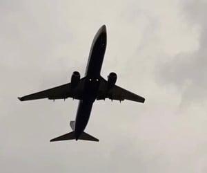 airplane, black and white, and Croatia image