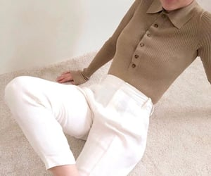 fashion, knitwear, and neutrals image