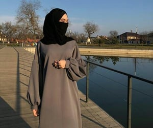 beauty, dresses, and hijab image
