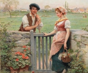 couple, date, and garden image