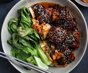 tofu, vegan, and vegan food image
