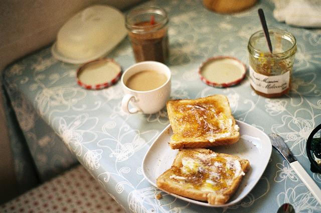 vintage, breakfast, and toast image