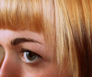 bangs, blond, and eye image