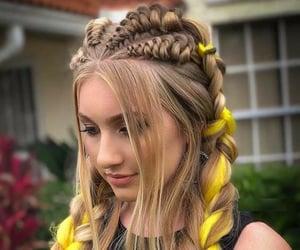 braid, hair, and hairstyles image