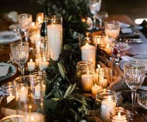 candles, decoration, and flowers image