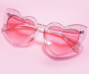 pink, aesthetic, and sunglasses image