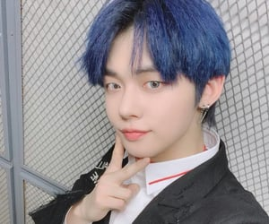 baby, yeonjun, and bluehair image