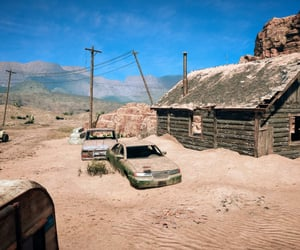 abandoned, desert, and dirt road image