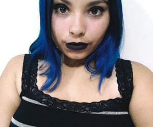 aesthetic, alternative, and bluehair image