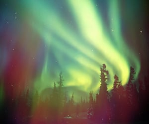 aurora borealis, nature, and sky image