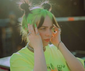 billie eilish and hairstyle image