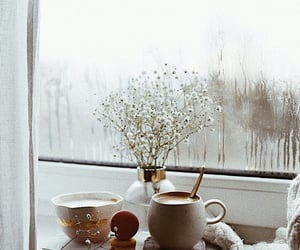 rain, coffee, and winter image