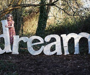Dream, girl, and forest image