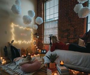 bedroom, cozy, and netflix image
