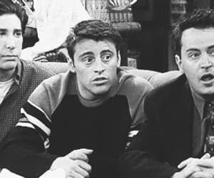 black and white, gif, and joey tribbiani image