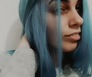 blue, bluehair, and girl image
